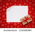 Christmas Sheet Of Paper With...