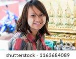 bago   myanmar   august 19 ... | Shutterstock . vector #1163684089