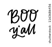 boo y'all hand lettering   Shutterstock .eps vector #1163686456