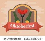 oktoberfest festival design... | Shutterstock .eps vector #1163688736