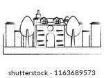 modern house design | Shutterstock .eps vector #1163689573