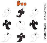vector   character set of...   Shutterstock .eps vector #1163694043
