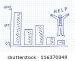 drawing of graph on squared...   Shutterstock .eps vector #116370349