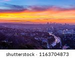 dawn from the hollywood bowl... | Shutterstock . vector #1163704873