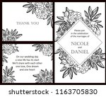 romantic wedding invitation... | Shutterstock .eps vector #1163705830