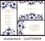 romantic wedding invitation... | Shutterstock .eps vector #1163705839