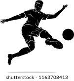 soccer scissor kick | Shutterstock .eps vector #1163708413
