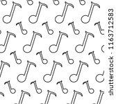 line quarter musical note sign... | Shutterstock .eps vector #1163712583