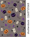 fun halloween elements | Shutterstock .eps vector #1163715163