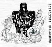 organic market  logo design ... | Shutterstock .eps vector #1163736826