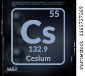 cesium symbol.chemical element... | Shutterstock .eps vector #1163737369