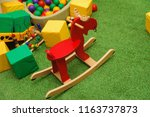 rocking deer and other toys | Shutterstock . vector #1163737873