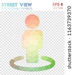 street view polygonal symbol ... | Shutterstock .eps vector #1163739370