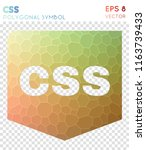 css polygonal symbol  alive... | Shutterstock .eps vector #1163739433