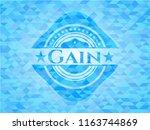 gain realistic sky blue mosaic... | Shutterstock .eps vector #1163744869