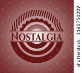 nostalgia red icon or emblem | Shutterstock .eps vector #1163750209