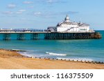 eastbourne pier and beach  east ...
