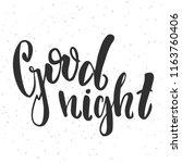 good night   vector... | Shutterstock .eps vector #1163760406
