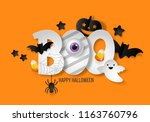 halloween banner design with... | Shutterstock .eps vector #1163760796
