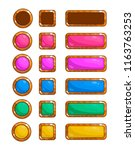 a set of vector game buttons... | Shutterstock .eps vector #1163763253