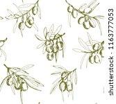 seamless pattern olives  hand... | Shutterstock .eps vector #1163777053