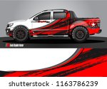 truck and car graphic vector.... | Shutterstock .eps vector #1163786239
