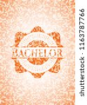 bachelor orange mosaic emblem... | Shutterstock .eps vector #1163787766