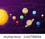 cartoon solar system scheme.... | Shutterstock .eps vector #1163788606