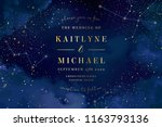 magic night dark blue sky with... | Shutterstock .eps vector #1163793136