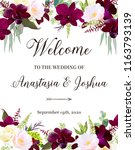 luxury fall flowers vector... | Shutterstock .eps vector #1163793139