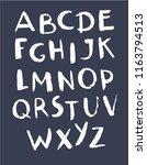 hand drawn english alphabet.... | Shutterstock .eps vector #1163794513