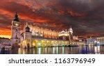 cloth hall sukiennice building... | Shutterstock . vector #1163796949