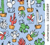 cartoon seamless pattern with... | Shutterstock .eps vector #1163818489