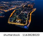 aerial view of zadar peninsula... | Shutterstock . vector #1163828020