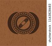 bandage plaster icon inside... | Shutterstock .eps vector #1163828683