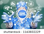 doctor offers a edge computing... | Shutterstock . vector #1163832229