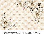 3d light golden jewelry... | Shutterstock . vector #1163832979