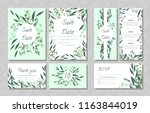 eucalyptus design. wedding... | Shutterstock .eps vector #1163844019