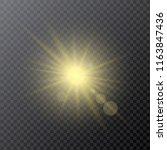 light yellow effect reflector ... | Shutterstock .eps vector #1163847436