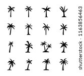 the palm icons  | Shutterstock .eps vector #1163856463