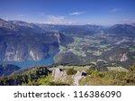 Konigssee lake in Bavarian Alps, Germany - stock photo