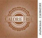 calorie free vintage wooden... | Shutterstock .eps vector #1163863183