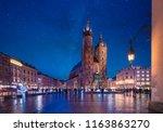 st mary's basilica  mariacki... | Shutterstock . vector #1163863270