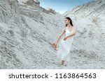 fashionable nice and sensuality ... | Shutterstock . vector #1163864563