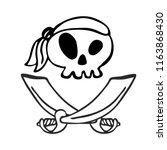 pirate skull  design element... | Shutterstock .eps vector #1163868430