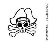 pirate skull  design element... | Shutterstock .eps vector #1163868433