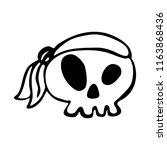 pirate skull  design element... | Shutterstock .eps vector #1163868436