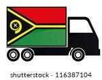 the flag of vanuatu painted on... | Shutterstock .eps vector #116387104