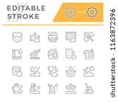set line icons of cleaning | Shutterstock .eps vector #1163872396