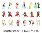 professional dancer couple... | Shutterstock .eps vector #1163874646